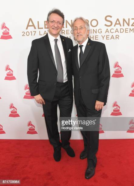 Latin Recording Academy President/CEO Gabriel Abaroa and Recording Academy President Neil Portnow attend the 2017 Person of the Year Gala honoring...