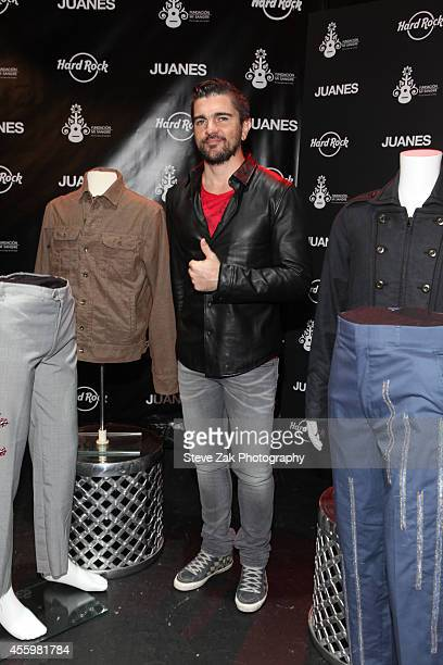 Latin Recording Artist Juanes attends Artist Spotlight Merchandise Unveiling at Hard Rock Cafe Times Square on September 23 2014 in New York City