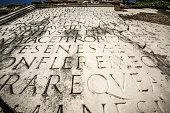 Latin script carved in marble in Rome