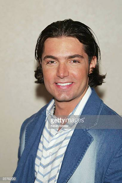 Latin soap actor Lino Martone poses at Fan Festival 2003 where fans of NBC and Telemundo soap operas get to meet their favorite stars at Hollywood...
