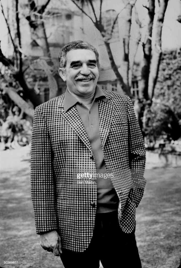 Latin-American author of novels and short stories Gabriel Garcia Marquez.