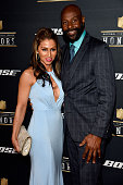 Latisha Pelayo and former NFL player Jerry Rice attend the 5th Annual NFL Honors at Bill Graham Civic Auditorium on February 6 2016 in San Francisco...