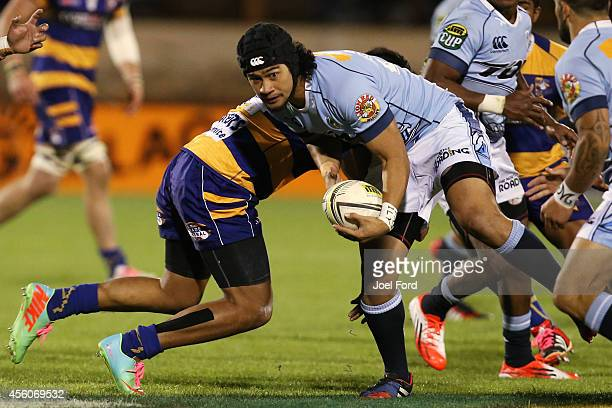 Latiume Fosita of Northland is tackeld during the ITM Cup match between Bay of Plenty and Northland on September 25 2014 in Mount Maunganui New...