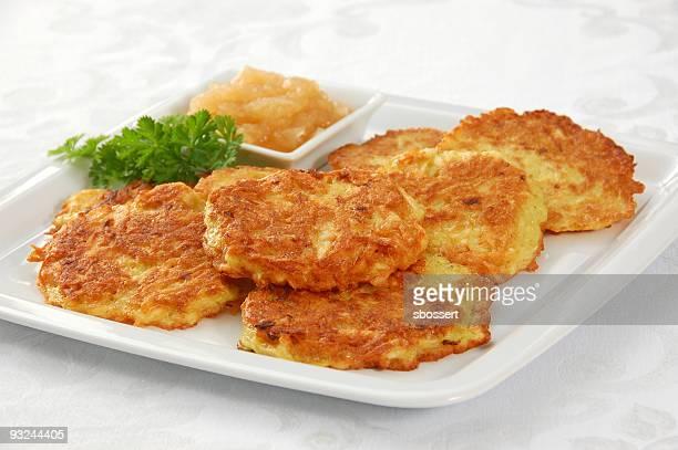 Latkes (Kartoffel-Pfannkuchen)