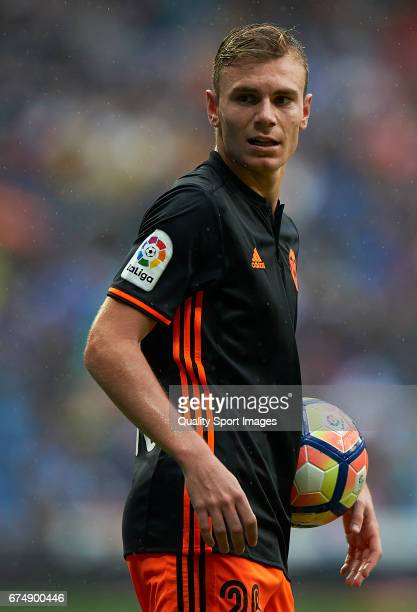 Lato of Valencia looks on during the La Liga match between Real Madrid CF and Valencia CF at Estadio Santiago Bernabeu on April 29 2017 in Madrid...