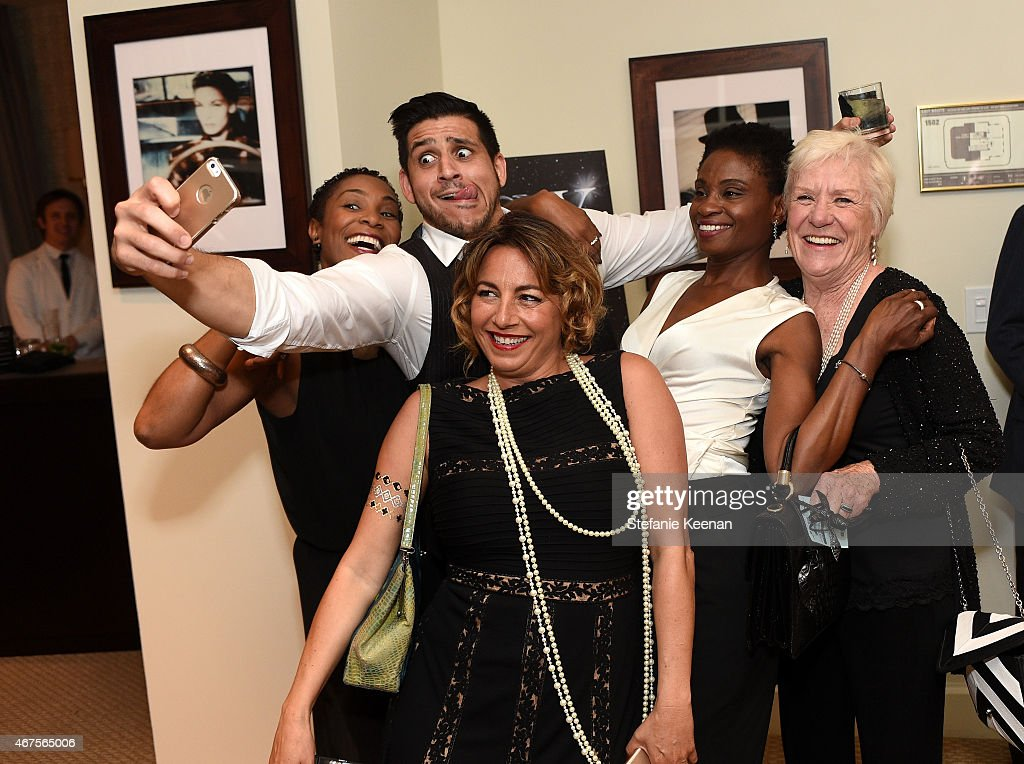 LaTonya Holmes, Tarek Zohdy, Selma Fonseca, Adina Porter and Barbara Tarbuck attend The Tony Awards celebration of Broadway in Hollywood at Sunset Towers on March 25, 2015 in West Hollywood, California.