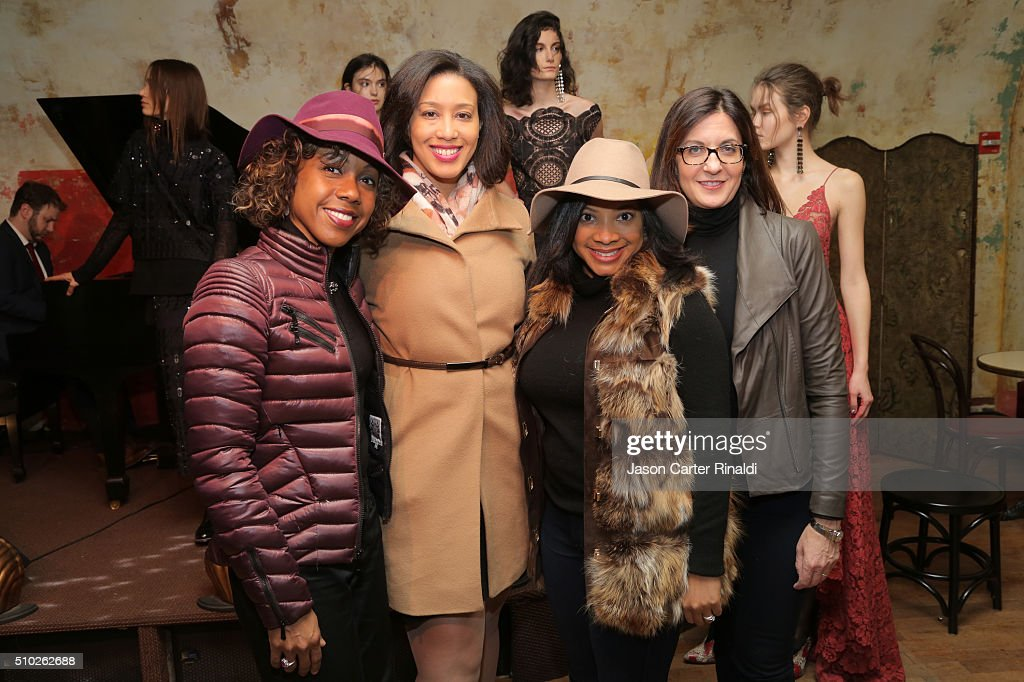 Latraviette Smith Wilson, Lania Edwards, Asha Morris and Bonnie Beer attend SheaMoisture at Tracy Reese F/W 2016 NYFW at Roxy Hotel on February 14, 2016 in New York City.