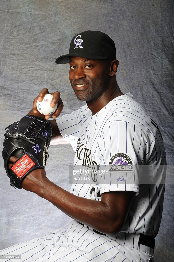 LaTroy Hawkins of the Colorado Rockies poses for a portrait during Photo Day on March 1 2015 at Salt River Fields at Talking Stick in Scottsdale...