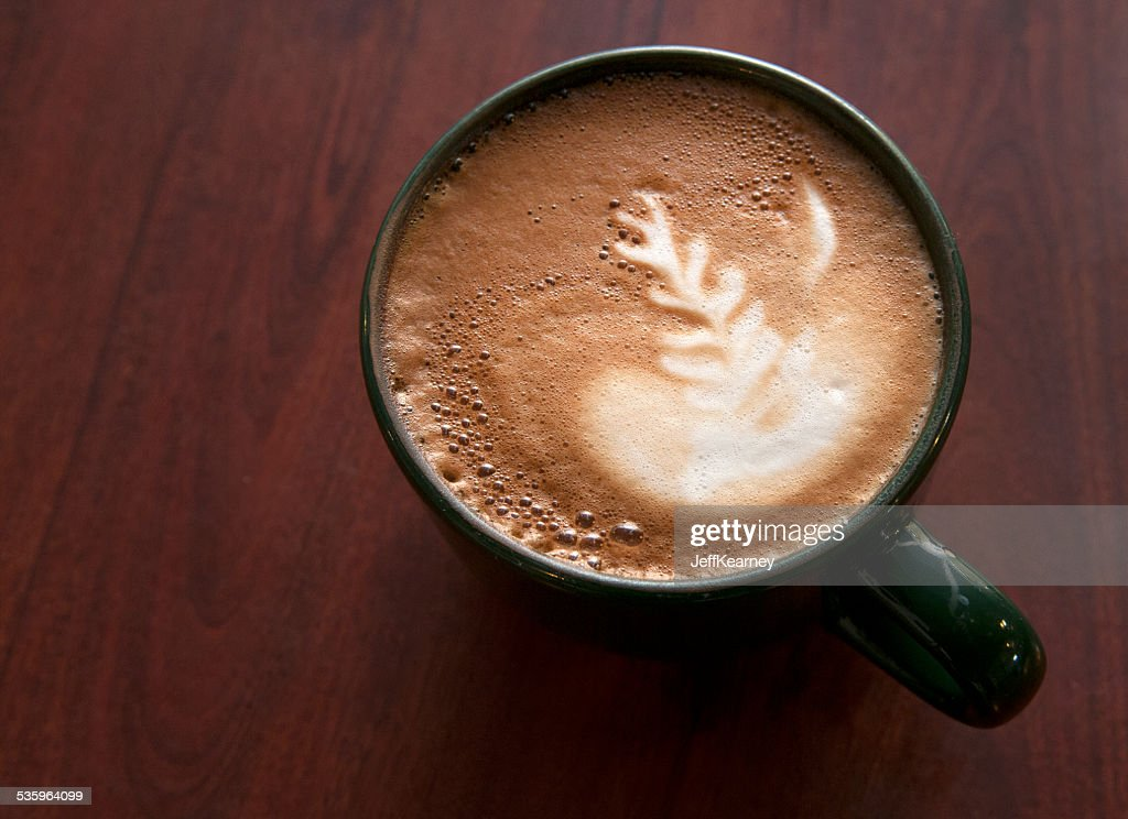 Latte Beginning : Stock Photo