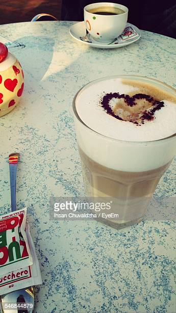 Latte With Heart Shape On Froth