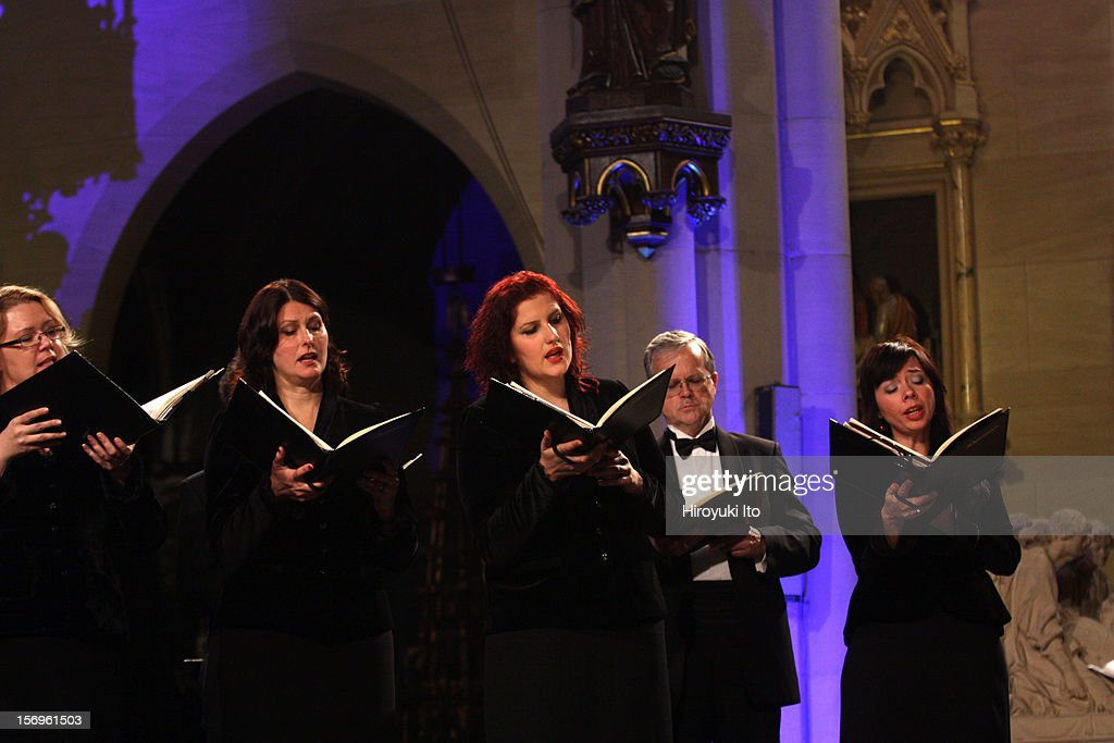 Latvian Radio Choir at the Church of St. Mary the Virgin as part of Lincoln Center's White Light Festival on Friday night, November 16, 2012.