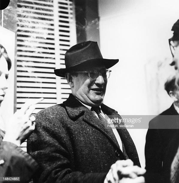 Latvianborn American painter Mark Rothko attaends a show at the Sidney Janis Gallery New York New York December 28 1959