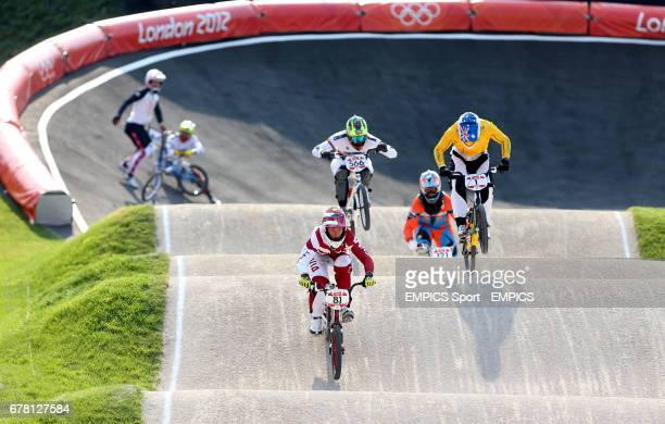 Latvia's Maris Stromsbergs wins gold in the mens BMX final