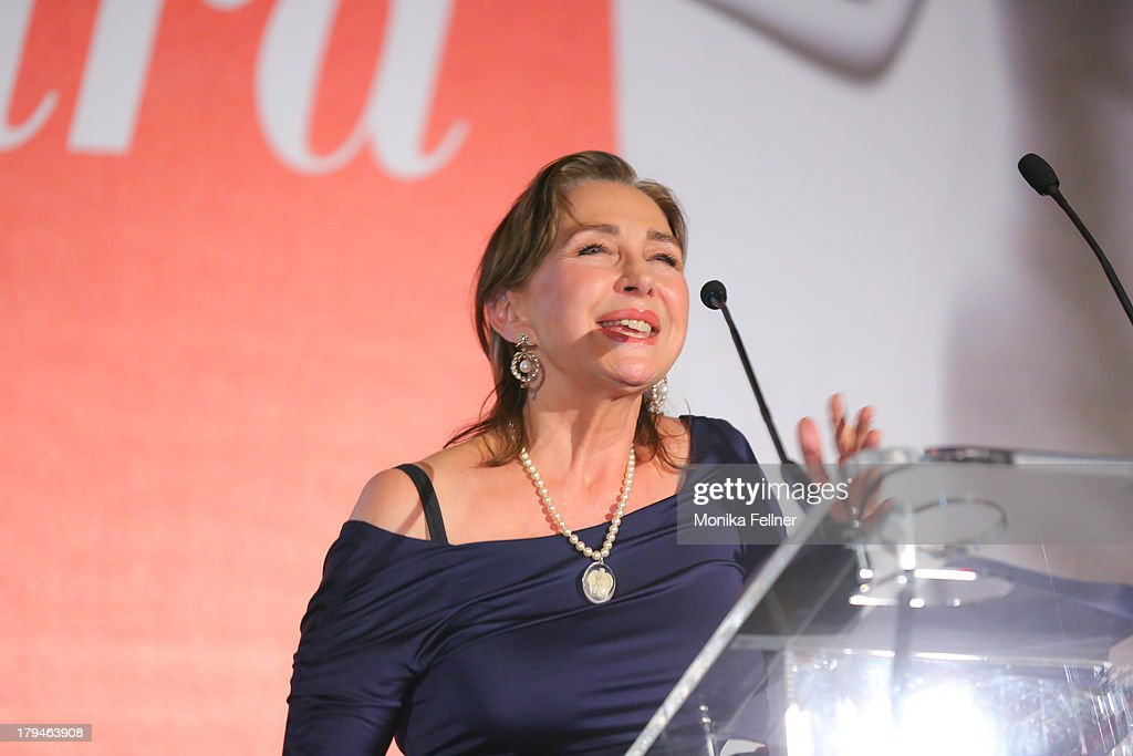 Laudator Christine Kaufmann speaks during the Leading Ladies Awards 2013 at Belvedere Palace on September 3, 2013 in Vienna, Austria.