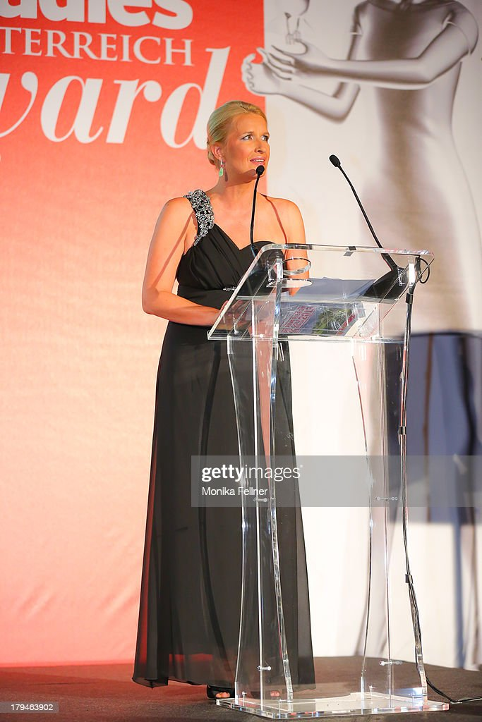 Laudator Claudia Stoeckl speaks during the Leading Ladies Awards 2013 at Belvedere Palace on September 3, 2013 in Vienna, Austria.