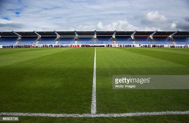 Laugardalsvollur soccer stadium, Reykjavik, Iceland