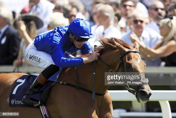 Laugh Aloud ridden by James Doyle wins The Princess Elizabeth Stakes on Derby Day of the 2017