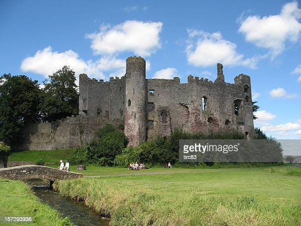 Laugharne Castle and sky