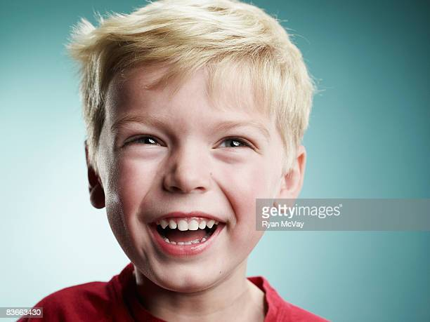 Laughing 4 year old boy