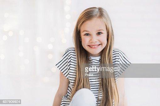 Laughing beautiful girl portrait : Stock Photo