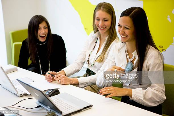 Laughing Businesswomen