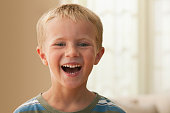 Laughing Caucasian boy