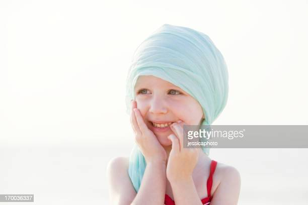 Laughing Chemo Girl At The Beach