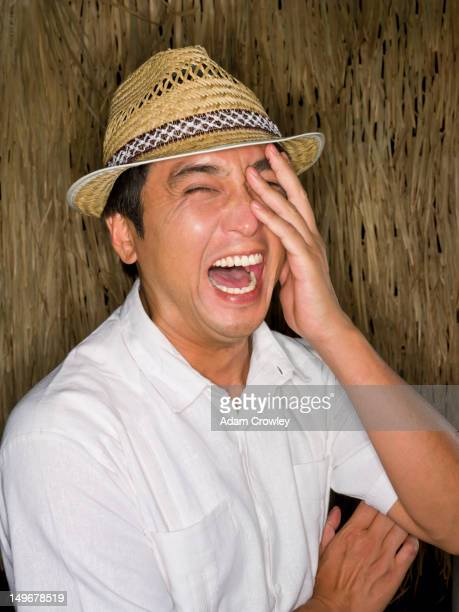 Laughing Japanese man