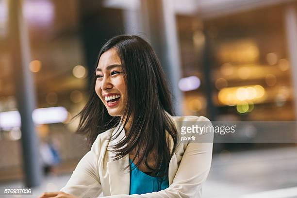 Laughing Japanese woman