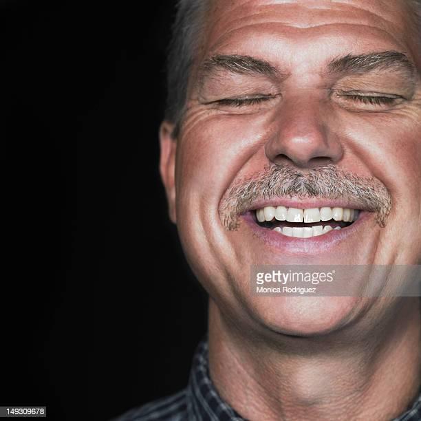 Laughing Matured Man