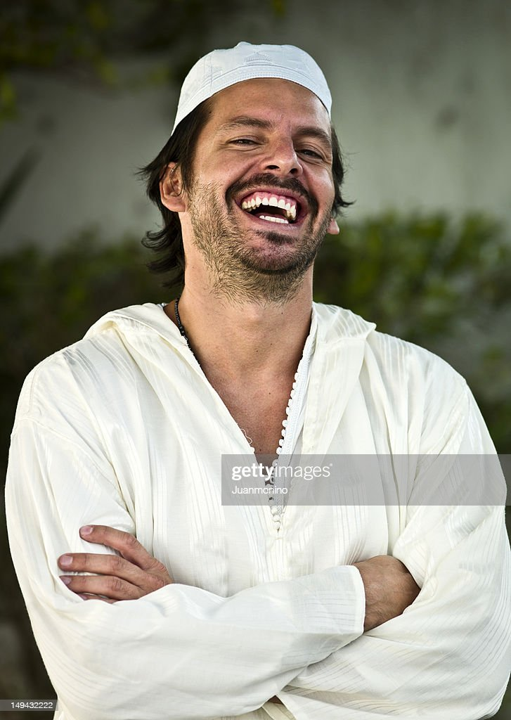 Laughing Middle Eastern Man : Stock Photo