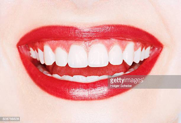 Laughing Mouth of Young Woman