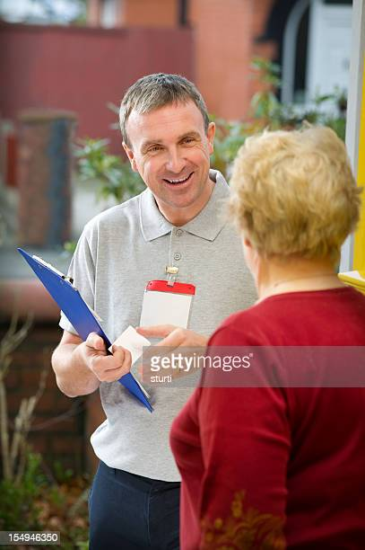 Lachen Verkäufer