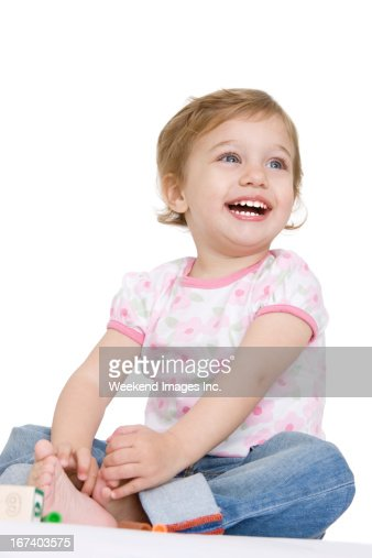 laughing toddler : Stockfoto