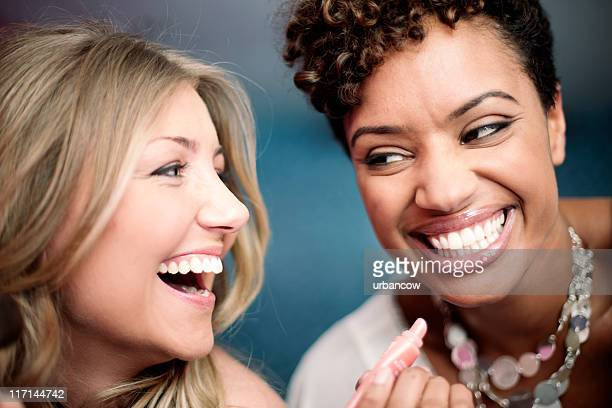 Laughing women.