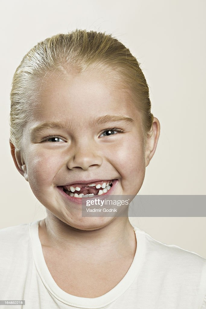 A laughing young girl : Stock Photo