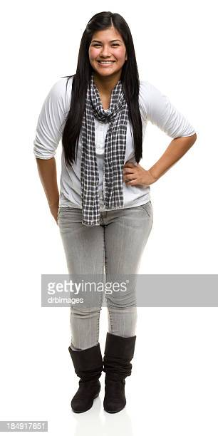 Laughing Young Woman Standing
