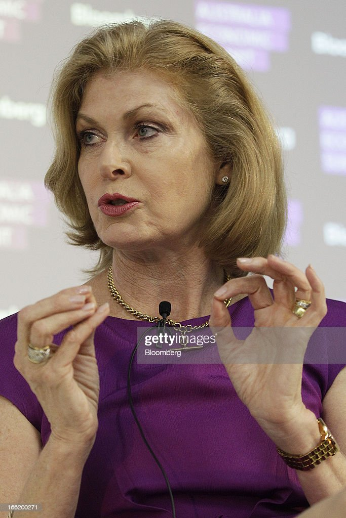 Launa Inman, chief executive officer of Billabong International Ltd., gestures as she speaks during the Bloomberg Australia Economic Summit in Sydney, Australia, on Wednesday, April 10, 2013. Billabong, hurt by a consumer spending slump and competition from major retailers, last year rebuffed an approach from TPG Capital worth almost A$842 million. Photographer: Brendon Thorne/Bloomberg via Getty Images
