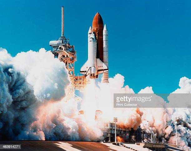 Launch of Space Shuttle Columbia from Kennedy Space Center Florida USA 4 April 1997 The Space Shuttle the world's first partially reusable launch...