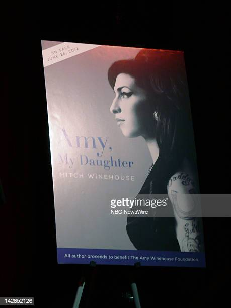 S Launch of the The Amy Winehouse Foundation Pictured A picture of Mitch Winehouse's book during the US Launch of the The Amy Winehouse Foundation at...