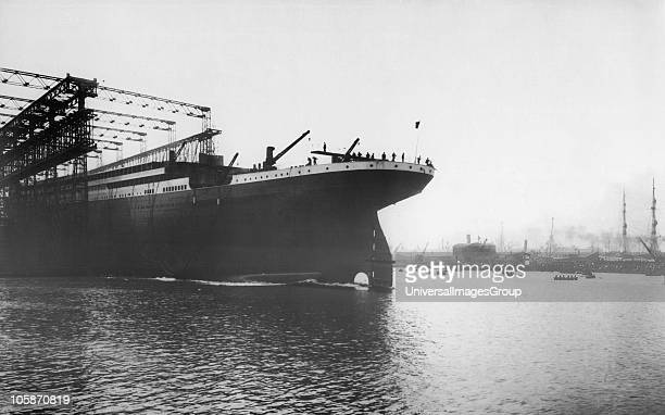 Launch of the White Star liner RMS Titanic at Southampton May 31st 1911 The White Liner built by Harland Wolff in Belfast left Southampton and...