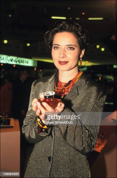 I ROSSELLINI launches LANCOME new 'TRESOR' in Paris France on October 25 1990