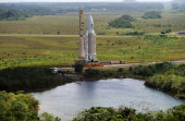 Launching Of Ariane 5 Flight 504 On October 12Th 1999 In Kourou France Ariane Is Transferred