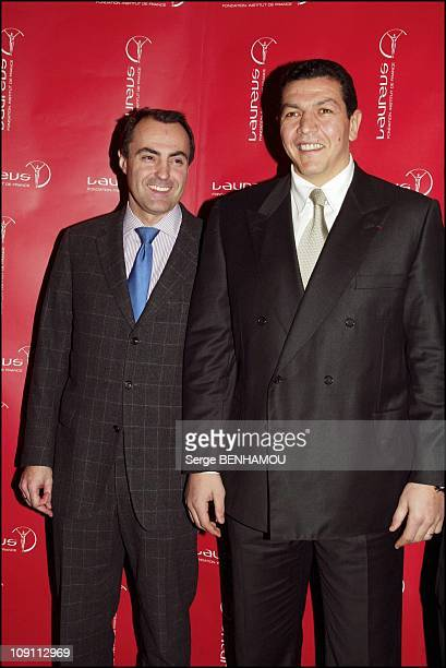 Launching Of The Cartier Sale For Laureus Foundation On January 30 2004 In Paris France JeanChristophe Bedos And Abdelatif Benazzi