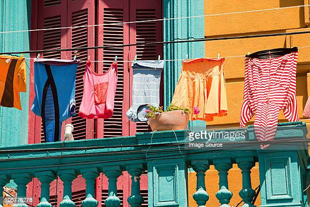 Laundry and house in Caminito, La Boca, Buenos Aires, Argentina