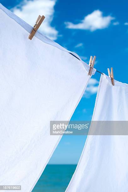 Laundry Drying by the Sea