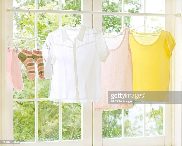 Laundry Drying Near The Window