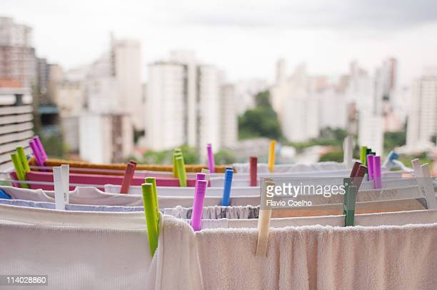 Laundry drying on line