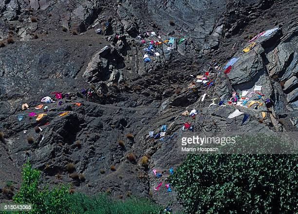 Laundry drying on mountain