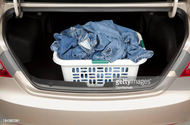Laundry in Car Trunk
